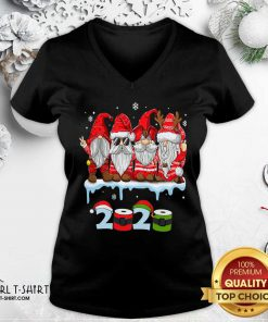 Merry Christmas Gnomes Wear Mask 2020 Quarantine Xmas V-neck- Design By Girltshirt.com