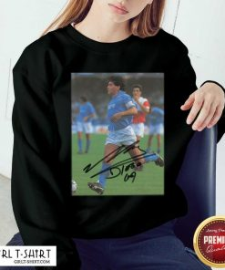 Rip Diego Maradona Legend Never Die Signature Sweatshirt- Design By Girltshirt.com