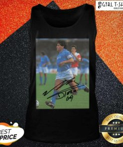 Rip Diego Maradona Legend Never Die Signature Tank Top - Design By Girltshirt.com