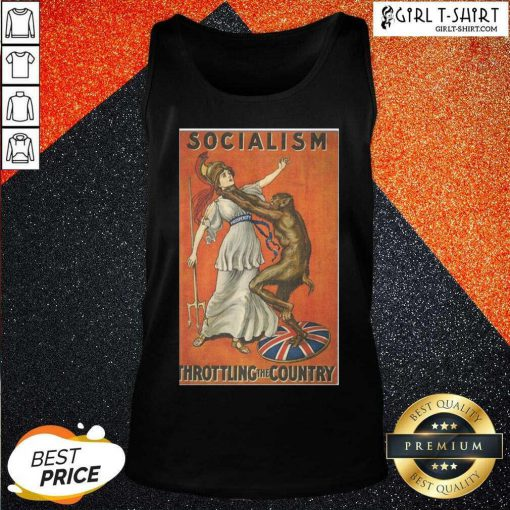 Socialism Throttling The Country Tank Top - Design By Girltshirt.com