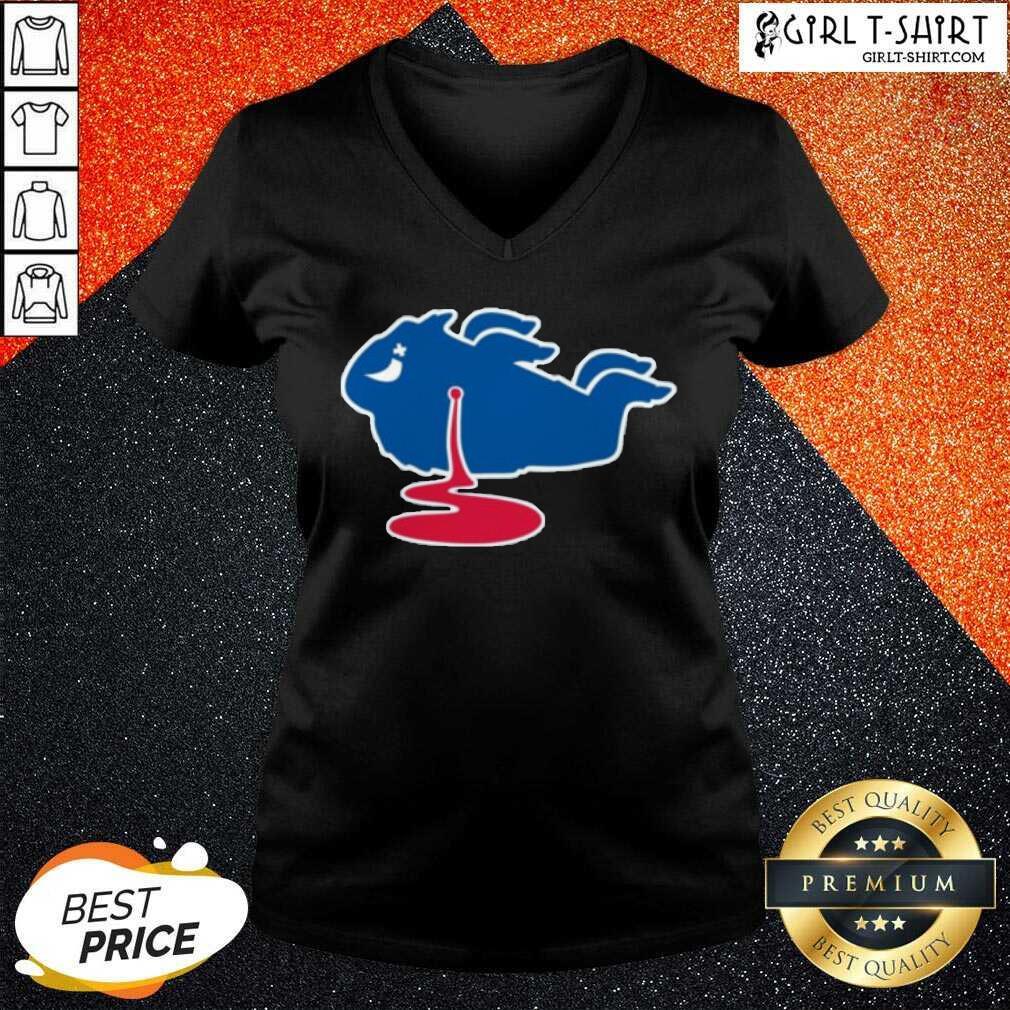 Buffalo Bills Shot Dead Logo V-neck