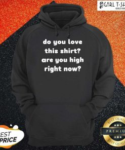 Do You Love This Shirt Are You High Right Now Hoodie