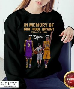 In Memory Of Gigi Kobe Bryant January 26 2020 Signature Sweatshirt