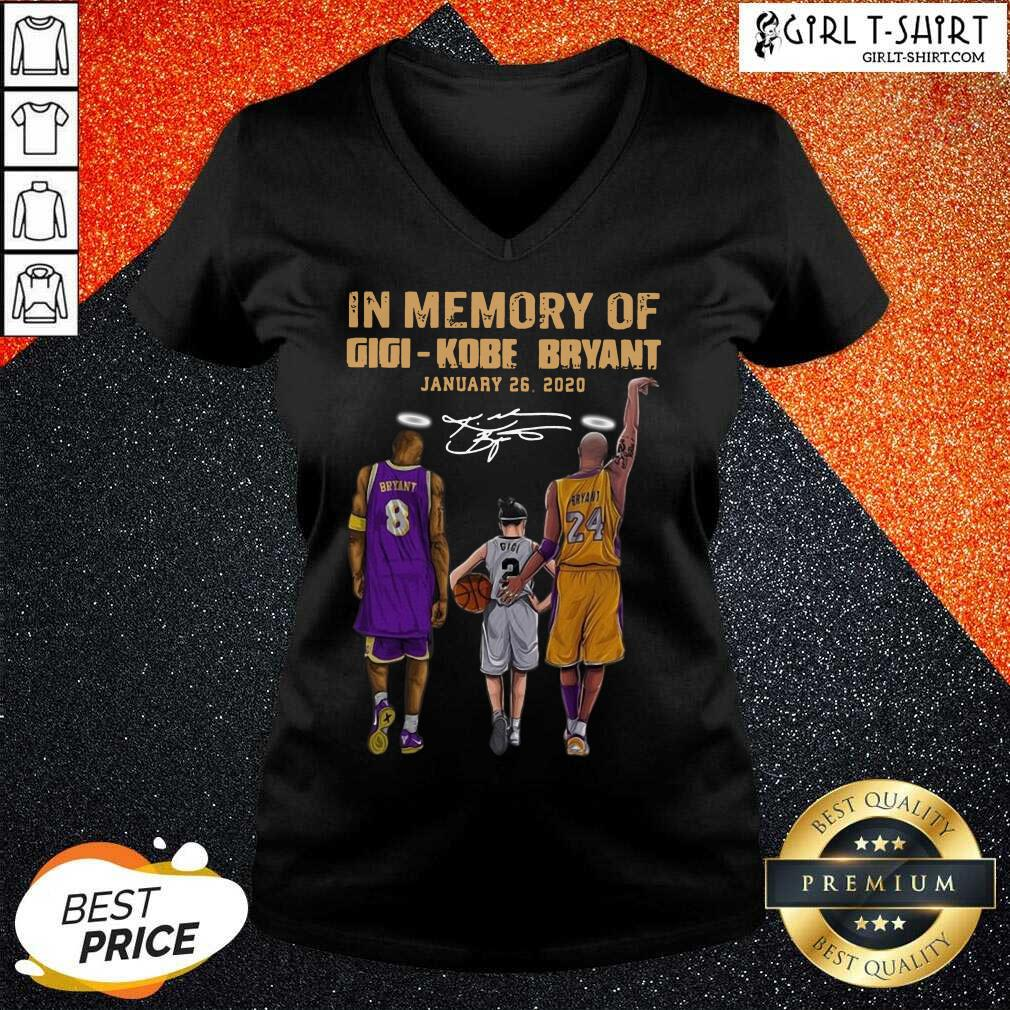 In Memory Of Gigi Kobe Bryant January 26 2020 Signature V-neck