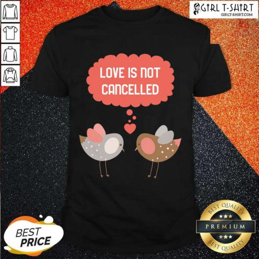 Love Is Not Cancelled Graphic Shirt- Design By Girltshirt.com