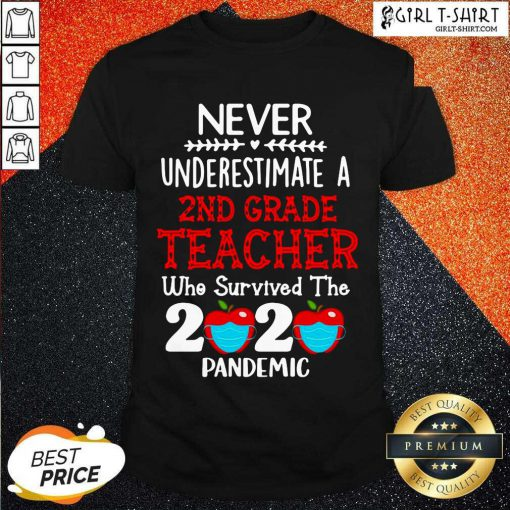 Never Underestimate A 2nd Grade Teacher Who Survived The 2020 Pandemic Shirt - Design By Girltshirt.com
