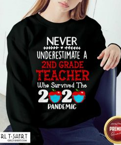 Never Underestimate A 2nd Grade Teacher Who Survived The 2020 Pandemic Sweatshirt - Design By Girltshirt.com