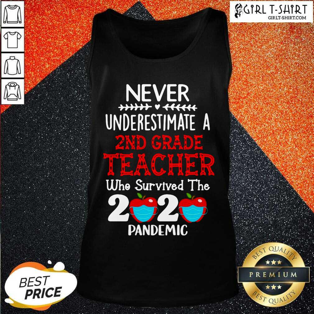 Never Underestimate A 2nd Grade Teacher Who Survived The 2020 Pandemic Tank Top - Design By Girltshirt.com