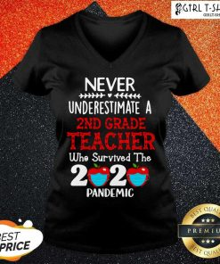 Never Underestimate A 2nd Grade Teacher Who Survived The 2020 Pandemic V-neck - Design By Girltshirt.com