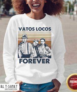 Blood In Blood Out Vatos Locos Forever Vintage V-neck- Design By Girltshirt.com