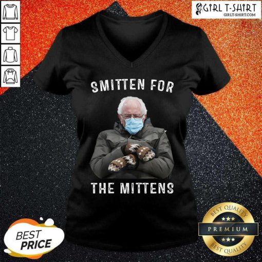 Bernie Sanders Smitten For The Mittens V-neck