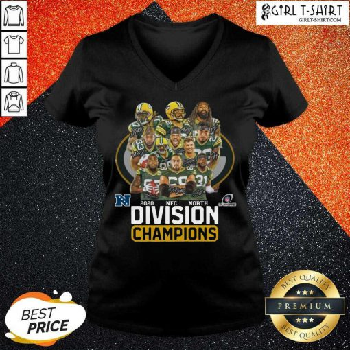 Green Bay Packers 2020 Nfc North Division Champions V-neck - Design By Girltshirt.com