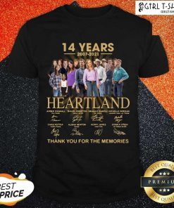 14 Years 2007 2021 Heartland Thank You For The Memories Signatures Shirt