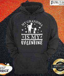 Grandma Is My Valentine Hoodie - Design By Girltshirt.com