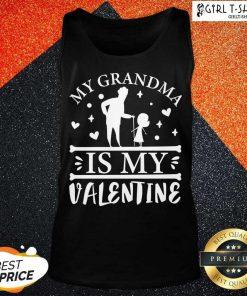 Grandma Is My Valentine Tank Top - Design By Girltshirt.com