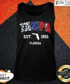 Tampa Tampa Bay Rays Tampa Bay Lightning Tampa Bay Buccaneers Est 1855 Florida Tank Top