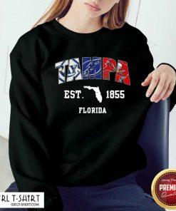 Tampa Tampa Bay Rays Tampa Bay Lightning Tampa Bay Buccaneers Est 1855 Florida Sweatshirt