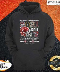 Alabama Crimson Tide National Championship 2021 Champion Alabama 52 24 Ohio State Hoodie