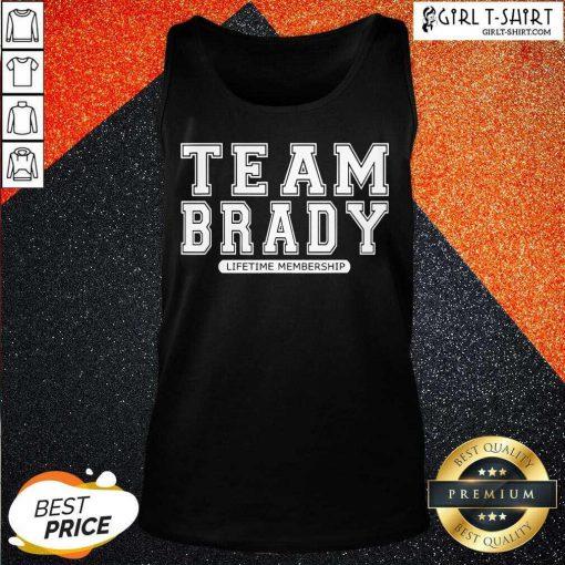 Team Brady Lifetime Membership Tampa Bay Buccaneers Tank Top