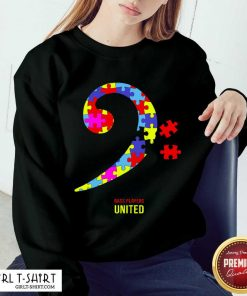 Bass Players United Rocks For Autism Sweatshirt