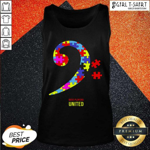 Bass Players United Rocks For Autism Tank Top