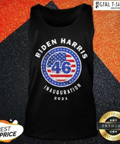 Joe Biden Inauguration Day 2021 46th President Distressed Tank Top