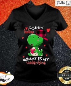 Kids Valentines Day Boys Mommy Is My Valentine Dino T Rex V-neck