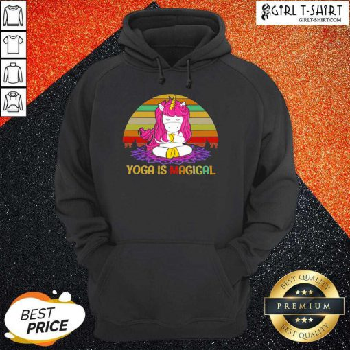 Unicorn Yoga Is Magical Vintage Hoodie - Design By Girltshirt.com