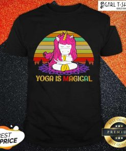 Unicorn Yoga Is Magical Vintage shirt- Design By Girltshirt.com