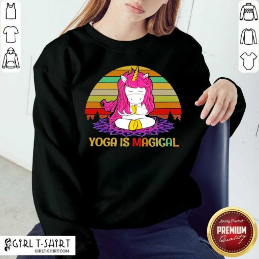Unicorn Yoga Is Magical Vintage Sweatshirt - Design By Girltshirt.com