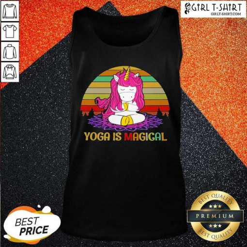 Unicorn Yoga Is Magical Vintage Tank Top - Design By Girltshirt.com