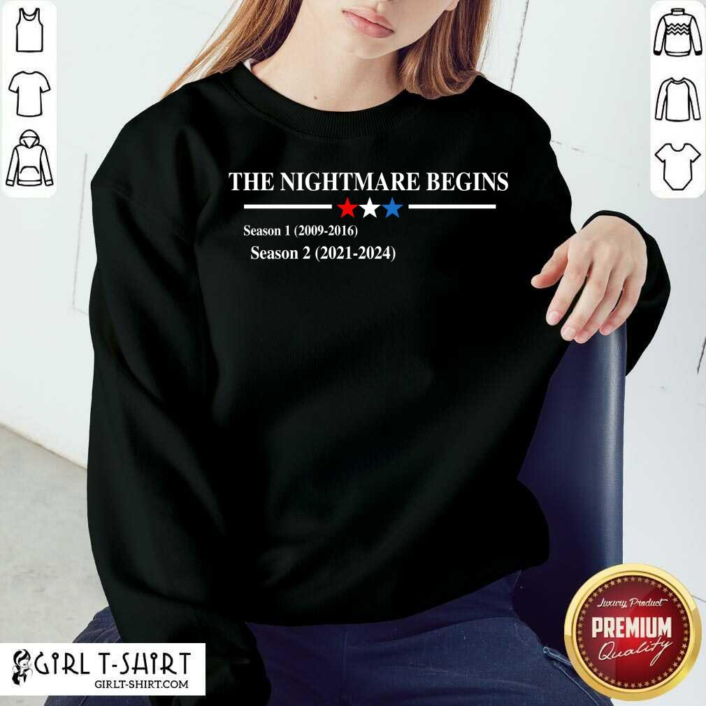 The Nightmare Begins Season 1 2009 2016 Season 2 2021 2024 Sweatshirt