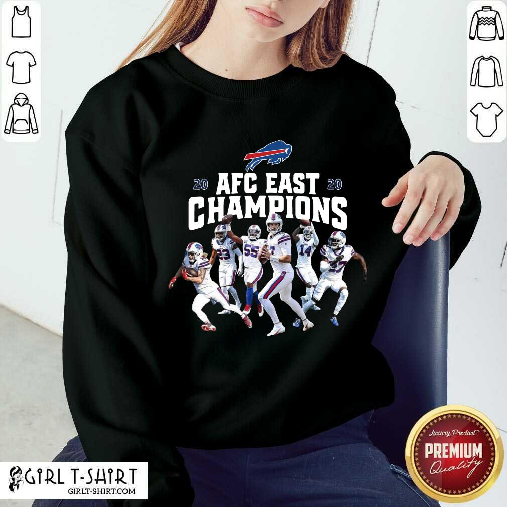 Buffalo Bills Players 2020 AFC East Champions Sweatshirt