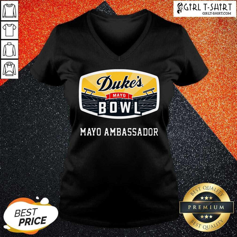 Dukes Mayo Bowl Mayo Ambassador V-neck - Design By Girltshirt.com