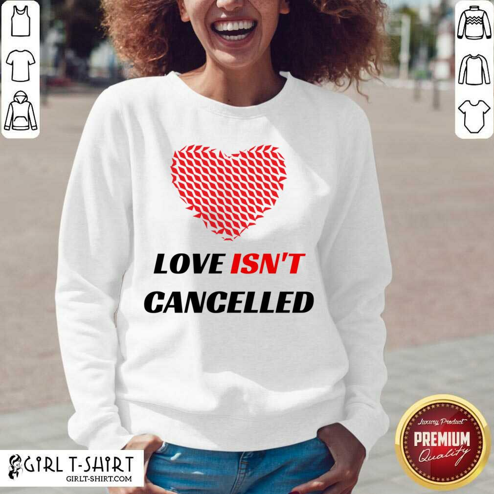 Love Isnt Cancelled Classic V-neck-Design By 1Tees.com