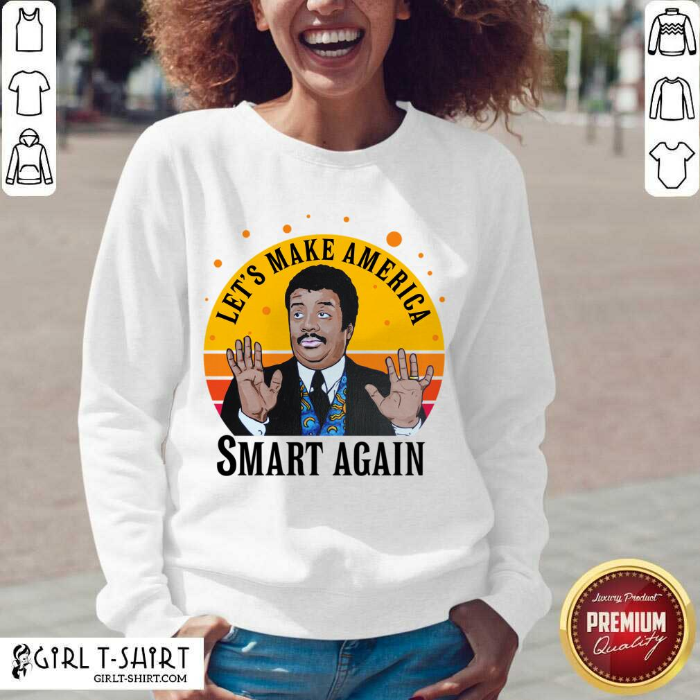 Tyson Lets Make America Smart Again Vintage V-neck- Design By Girltshirt.com