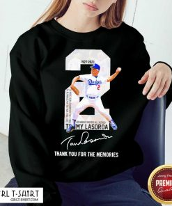 2 Tommy Lasorda Los Angeles Dodgers 1927 2021 Thank You For The Memories Signature Sweatshirt-Design By Girltshirt.com