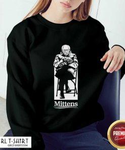 Bernie Mittens Inauguration white Sweatshirt