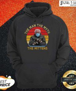 Bernie Sanders The Man The Myth The Mittens Vintage Hoodie