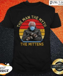 Bernie Sanders The Man The Myth The Mittens Vintage Shirt