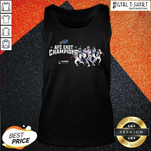 Buffalo Bills 2020 AFC East Champions One Family Tank Top