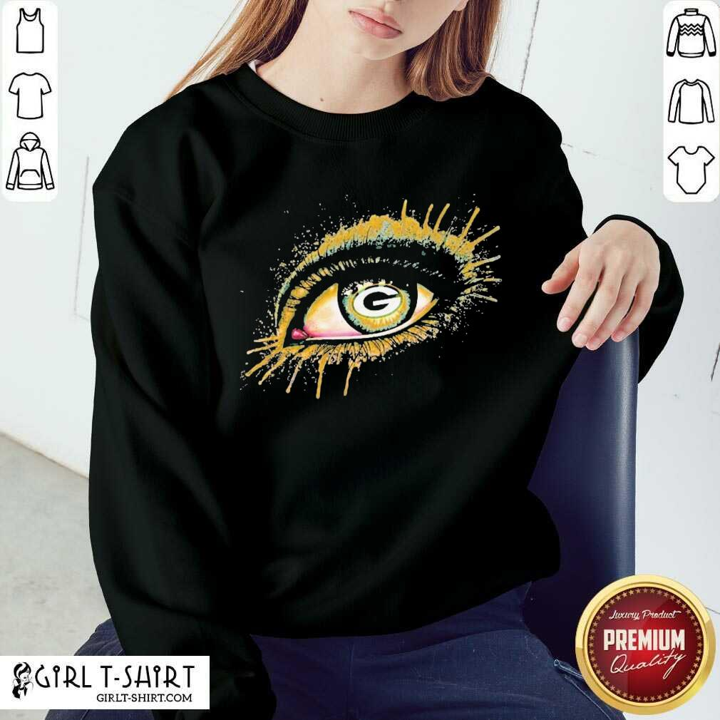 Eyes Green Bay Packers Sweatshirt - Design By Girltshirt.com