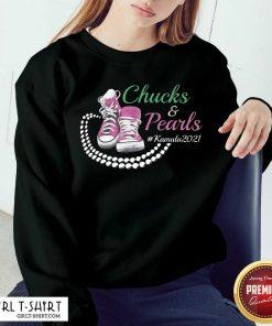 Kamala Harris Chucks And Pearls Aka Sorority 1908 Sweatshirt