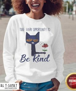 Cat Take Every Opportunity Be Kind V-neck - Design By Girltshirt.com