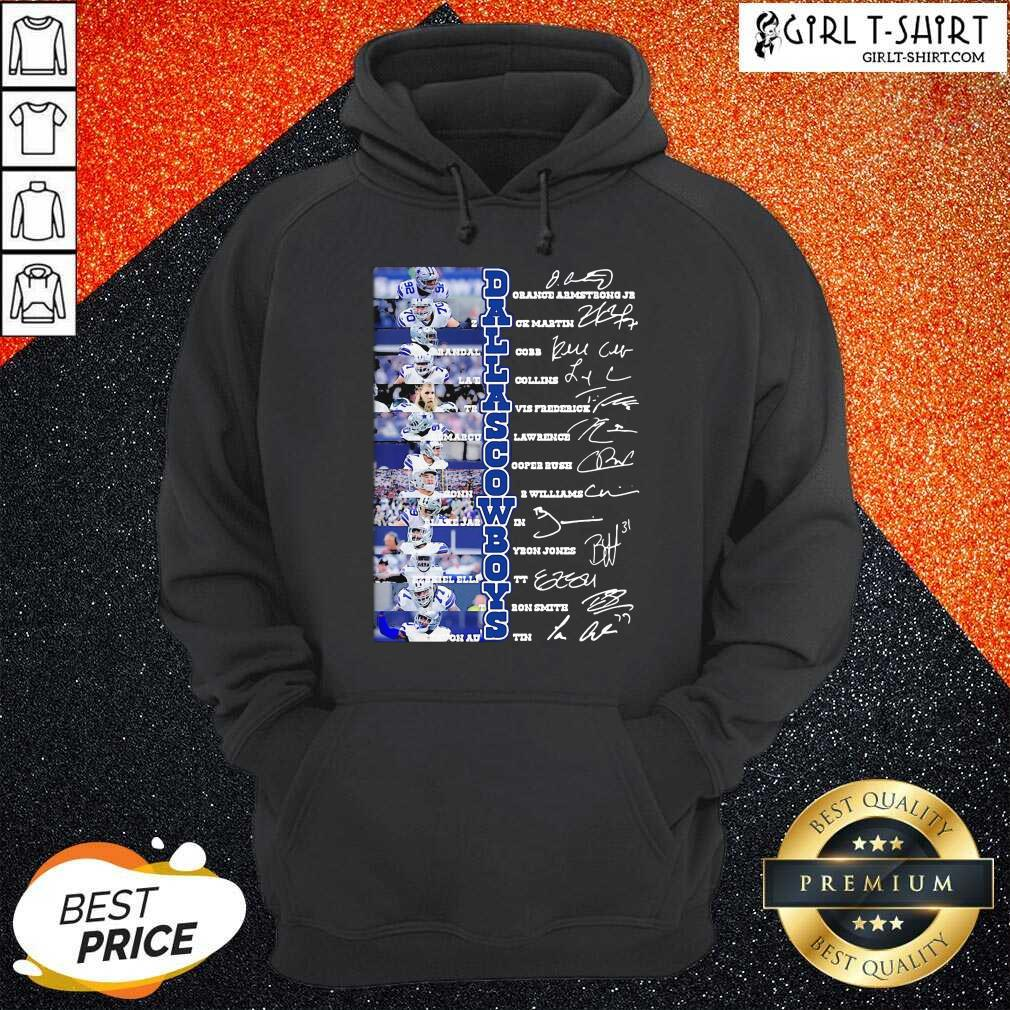 Dallas Cowboys Players Signatures Hoodie - Design By Girltshirt.com