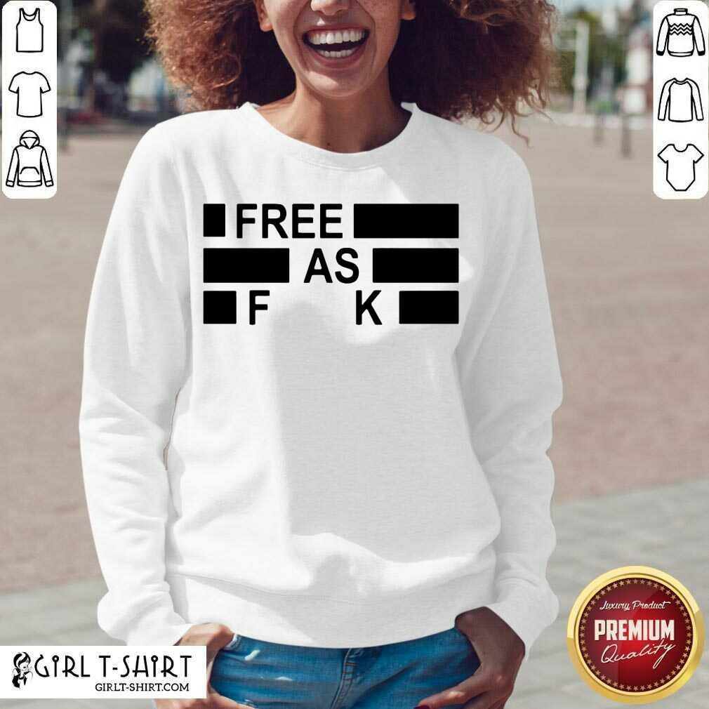 Funny Free As Fuck V-neck