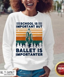 School Is Important But Ballet Is Importanter Vintage V-neck-Design By Girltshirt.com