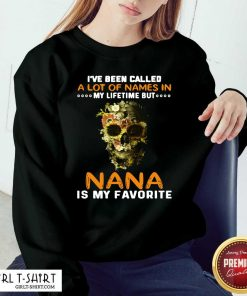 Skull I Ve Been Called A Lot Of Names In My Lifetime But Nana Is Favorite Sweatshirt