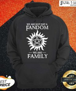 Supernatural We Are Not Just A Fandom We Are Family Hoodie