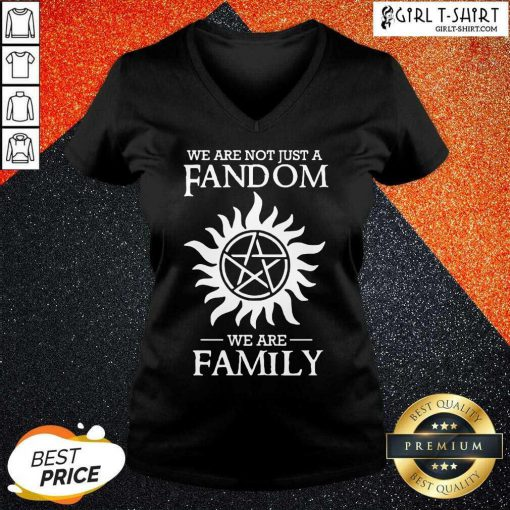 Supernatural We Are Not Just A Fandom We Are Family V-neck